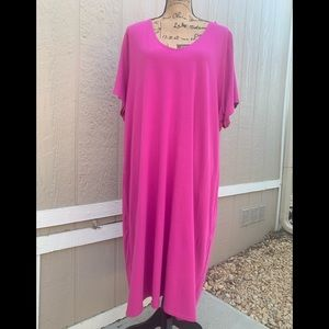 J Jill 3x Shirt Dress Short sleeve Tiered Pullover
